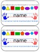 Pencil Box Name Tags for Primary (editable)