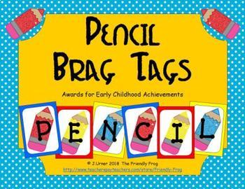Pencil Brag Tags