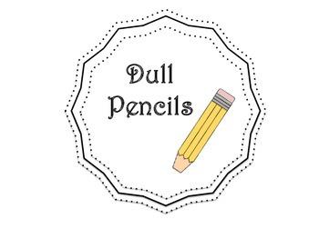 Pencil Bucket Labels