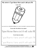 Pencil Buddy - Name Tracing & Coloring Editable Sheet - #6