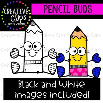 Pencil Buds {Creative Clips Clipart}
