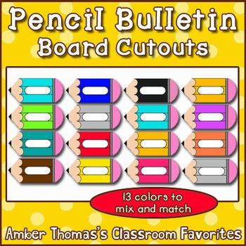 Pencil Bulletin Board Cutouts
