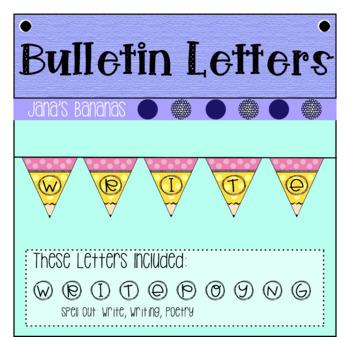 Bulletin Board Letters: Pencil