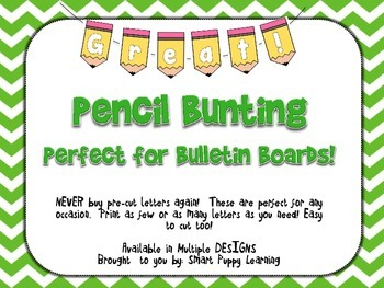 Pennant Bulletin Board Letters - Pencil