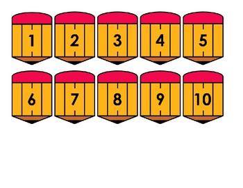 Pencil Calendar Dates