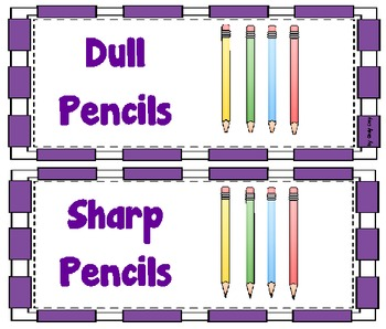 Pencil Can Covers - Sharp and Dull