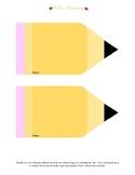Pencil Card/Template