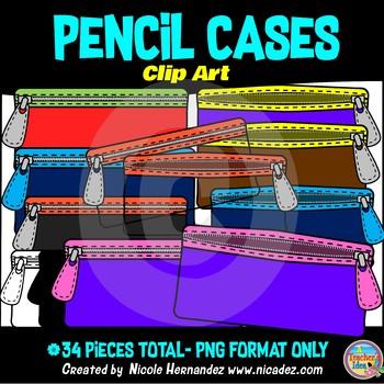 Pencil Cases Clip Art for Teachers
