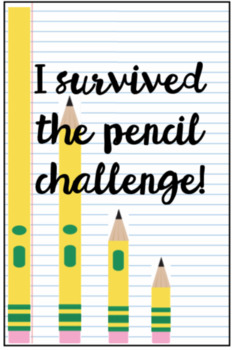 Pencil Challenge Brag Tag