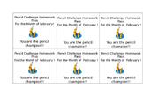 Pencil Challenge Homework Pass