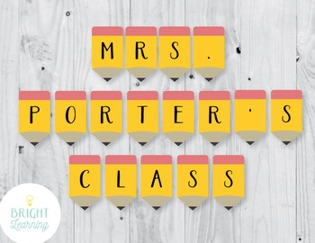 Pencil Classroom Banner