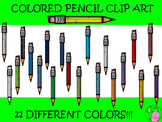 ~Colored Pencil Clip Art~ 21 Different Color Variations!!