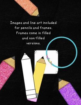 Pencil Clip Art Bundle