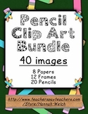 Pencil Clip Art Bundle