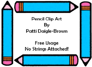 Pencil Clip Art Large With No Strings Attached!