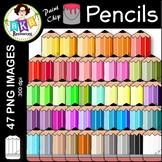 Pencil Clip Art ● Paint Chip Pencils ● Clip Art