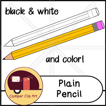 Pencil Clip Art, color and black and white {CU - ok!}