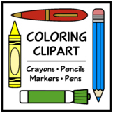 Coloring Clip Art (Pencil, Pen, Crayon, and Marker)