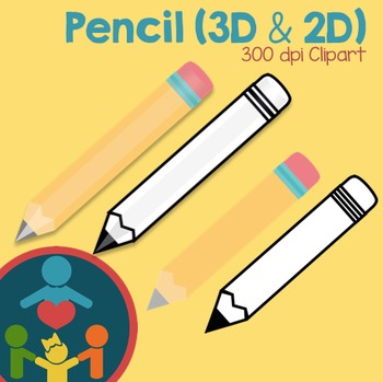 Pencil Clipart (3D and 2D)