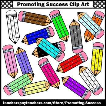 Pencil Clipart, Stars Theme School Supplies SPS