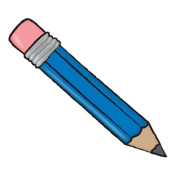 Pencil Clipart Set With and Without Labels