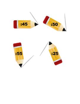 Pencil Clock Labels