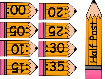 Pencil Clock Labels