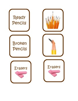 Pencil Container Labels