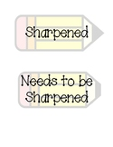 Pencil Container Tags