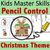 Pencil Control Christmas - Handwriting Strokes for Prescho