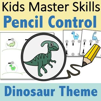 Pencil Control Dinosaurs - Handwriting Strokes for Preschool and Kindergarten