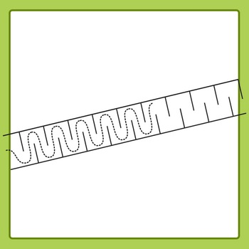 Pencil Control Paths Clip Art Set (Fine Motor Control) for Commercial Use