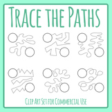 Pencil Control Paths - Help The ___ Find Their ___ Style Activities 2 Clip Art