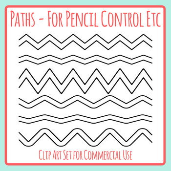 Pencil Control Paths - Help The ___ Find Their ___ Style Activities Clip Art Set