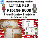 Distance Learning Little Red Riding Hood Activities pre-wr