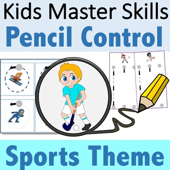 Pencil Control Sports Theme - Handwriting Strokes for Preschool and Kindergarten