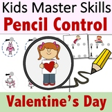 Pencil Control Valentine's Day - Handwriting Strokes Presc
