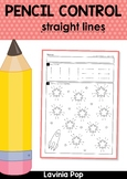 Pencil Control Worksheets: Straight Lines