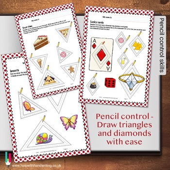 Pencil Control - triangle and diamond shapes