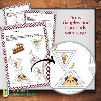 Pencil Control - triangle and diamond shapes