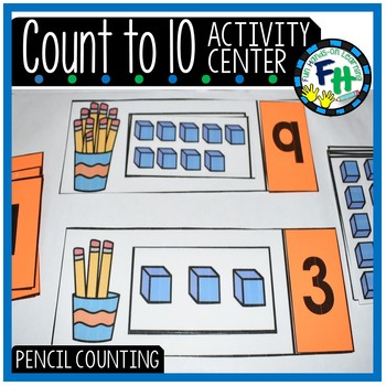 Pencil Counting Activity Center {Numbers to 10}