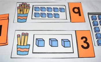 Counting to 10 Activity Center {Pencils & Cubes}