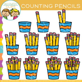 Pencil Counting Clip Art