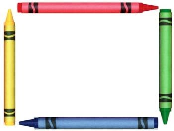 Pencil Crayons Colored Pencil BOARDERS