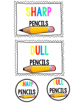 Pencil Cup Freebie Bright Labels!