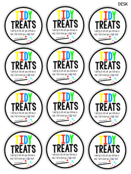 BRIGHTS Tidy Treat Reward Cards for desks, tables or cubbies!