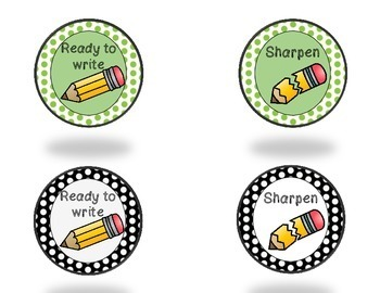 Pencil Cup Labels FREEBIE (English and Spanish)