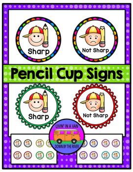 Pencil Cup Signs