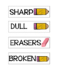 Pencil Drawer Label Organizer