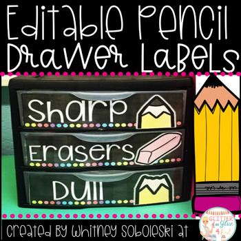 Pencil Drawer Labels